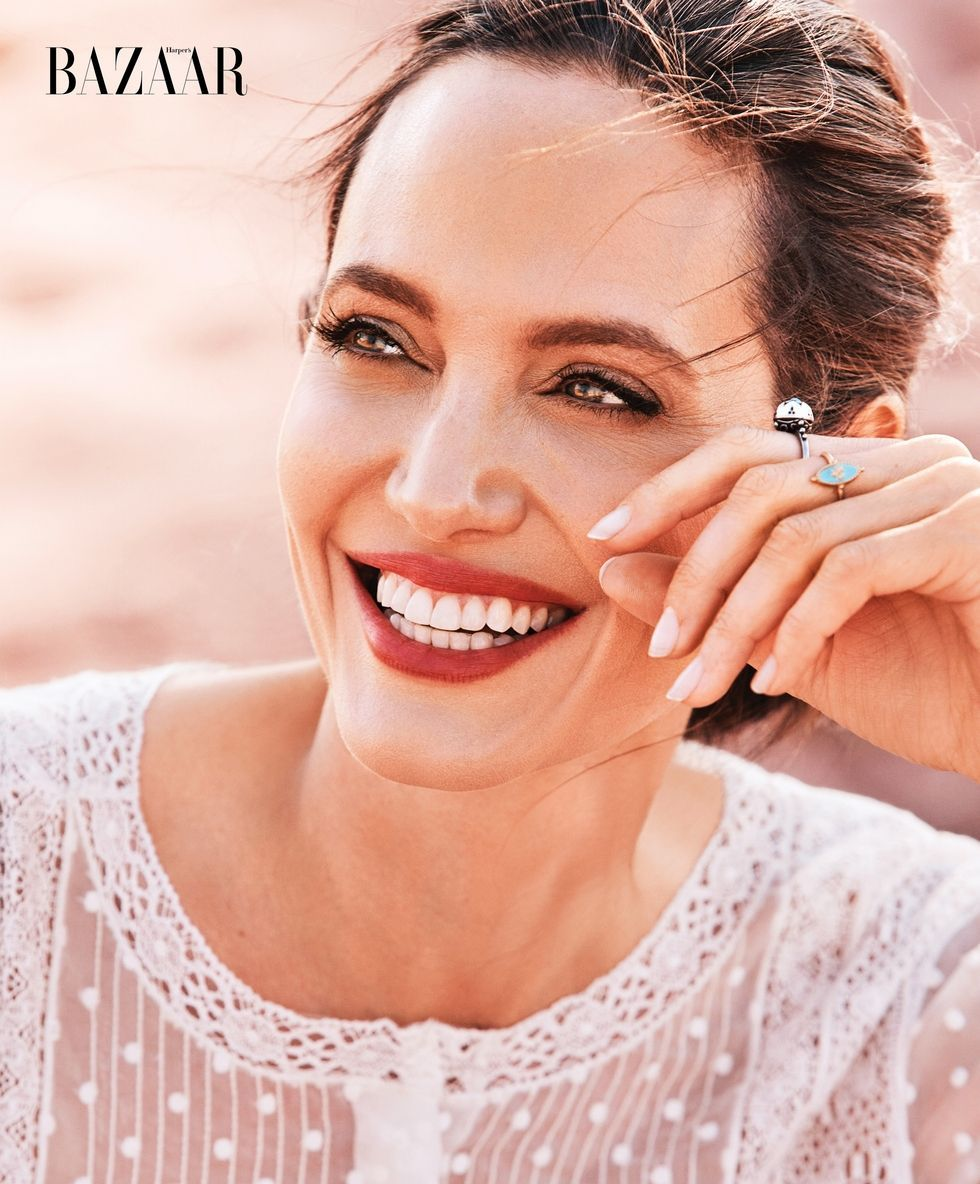 #Angelina Jolie Harpers Bazaar 150th Anniversary Issue