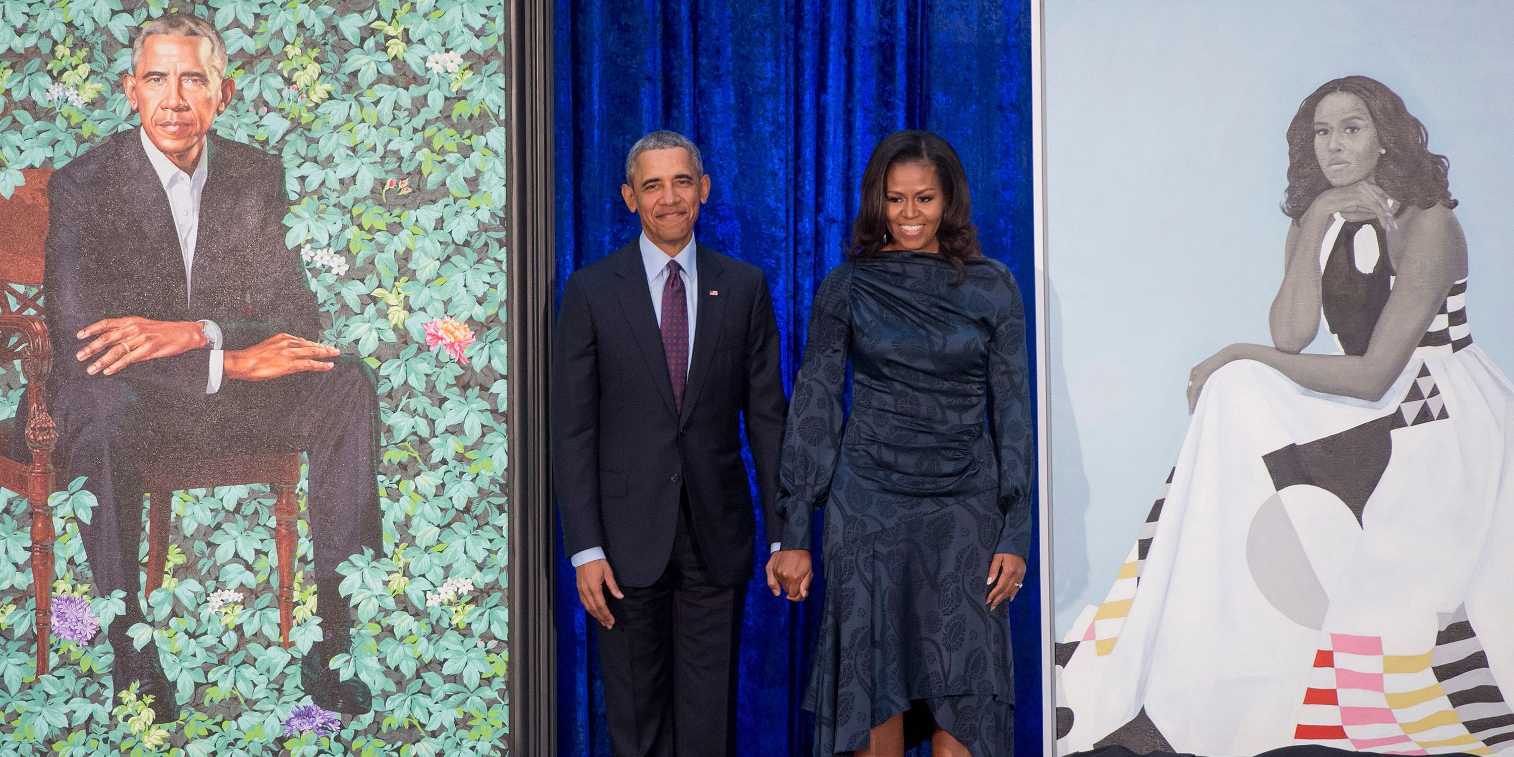 Barack and michelle obamas official portraits at the smithsonian