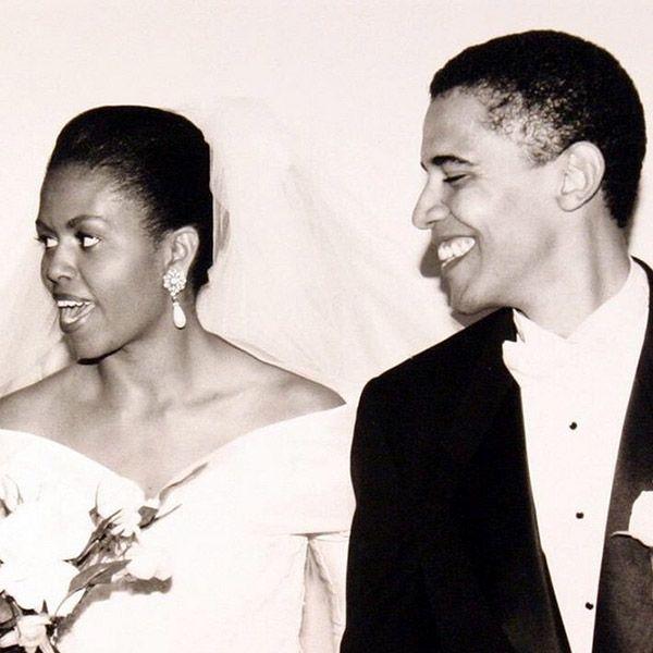 michelle obama wedding day