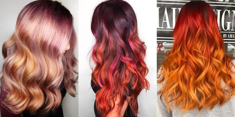 red ombre hair color red ombre hair dye inspiration