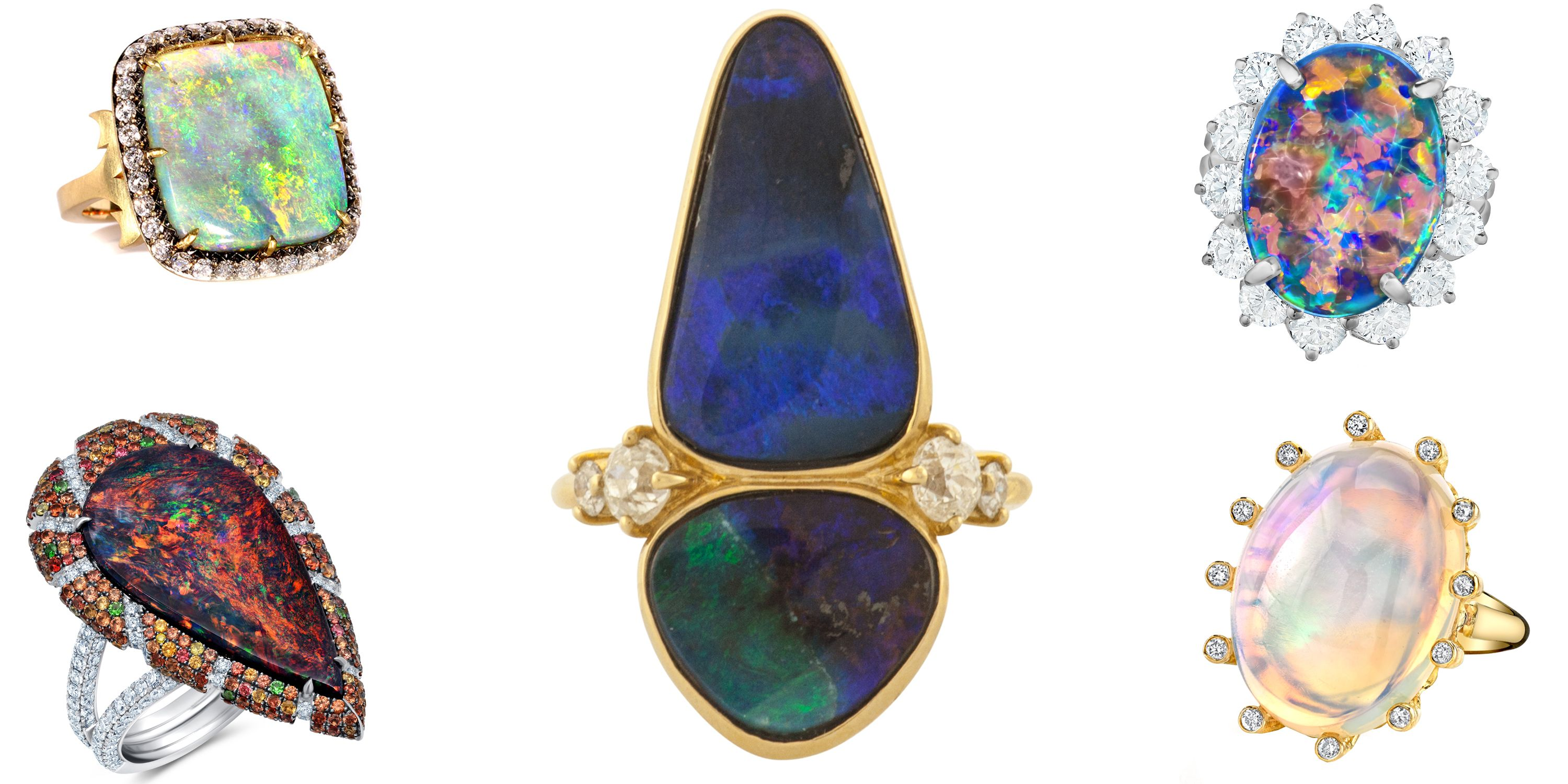 35 Opal Engagement Rings You'll Fall In Love With
