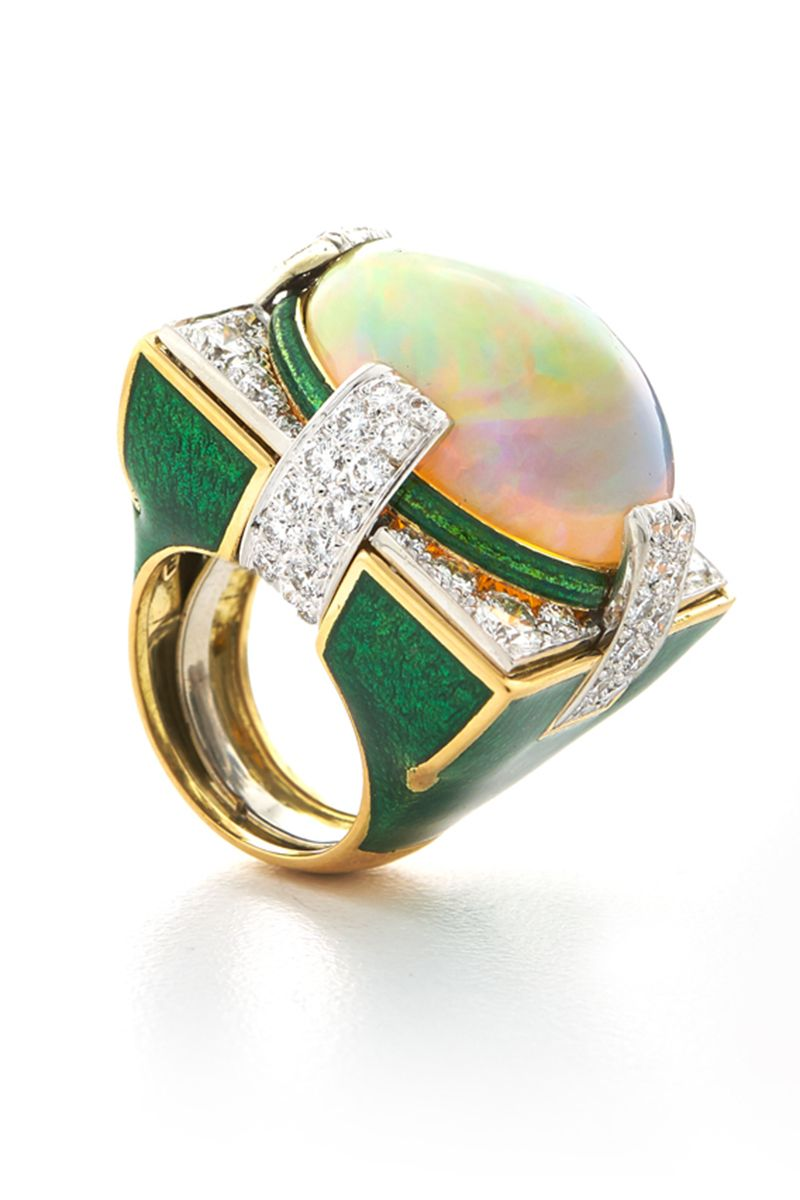 37 Beautiful Opal Engagement Rings Unique Opal Engagement Rings