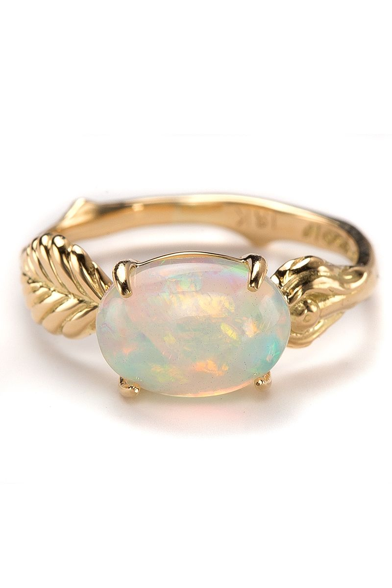 35 Beautiful Opal Engagement Rings Unique Opal Engagement Rings