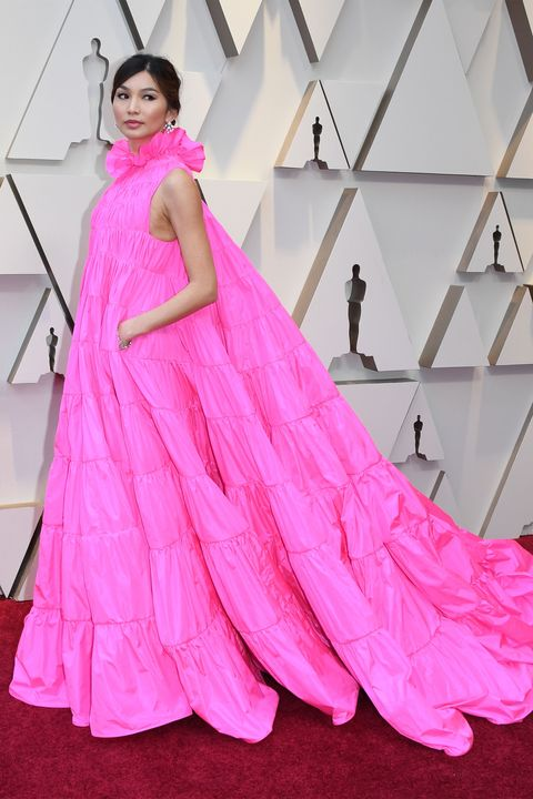 Clothing, Dress, Textile, Magenta, Pink, Formal wear, Style, Gown, Purple, Fashion,
