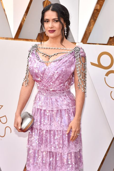 Salma Hayek, 2018 Oscars, Red Carpet Fashions