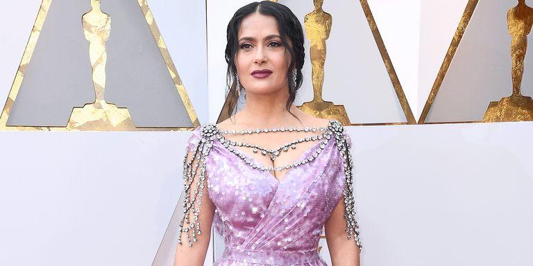 Salma Hayek Oscars 2018 Red Carpet - Salma Hayek Brings The Bling to ...
