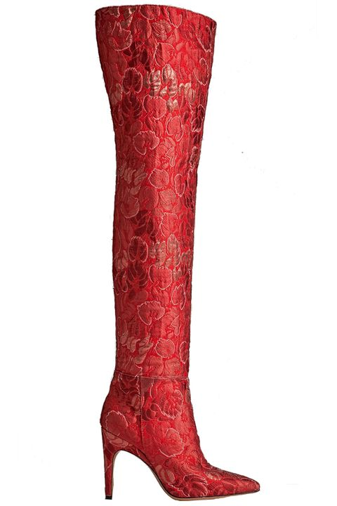 Red, Carmine, Pattern, Maroon, Boot, Coquelicot, Leather, Knee-high boot, Riding boot,