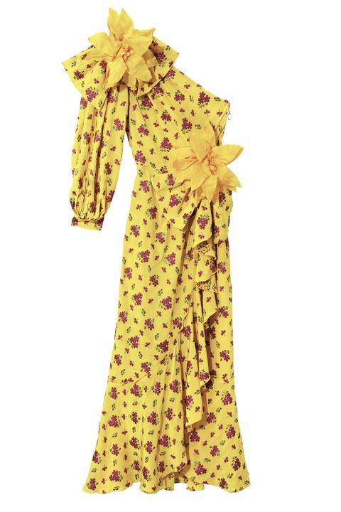 Clothing, Yellow, Dress, Day dress, Sleeve, Textile, Costume design, Gown, Costume,