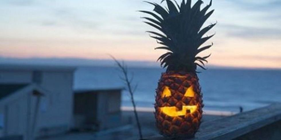 Pineapples Are The New Jack-o'-Lanterns This Halloween