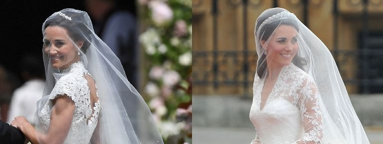 Pippa Middleton\'s Wedding Dress vs. Kate\'s - Pippa and Kate ...