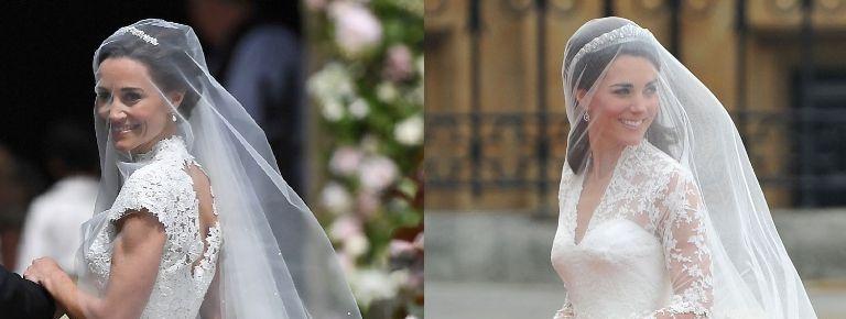 Pippa Middletons Wedding Dress Vs Kates