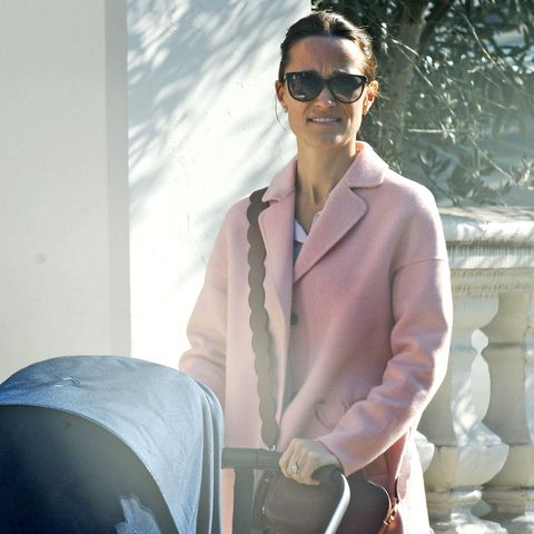 *EXCLUSIVE* Pippa Middleton enjoys a stroll with her nanny as she takes her baby Arthur out