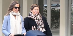 EXCLUSIVE: Pippa Middleton is Spotted Out on a Stroll with a Friend in London.