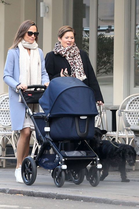 Pippa Middleton Goes For A Walk With Her Baby Boy In A