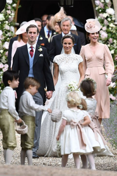 Kate Middleton Wears Pink Alexander Mcqueen Dress To Pippa
