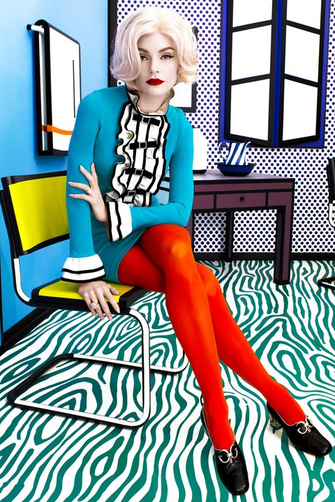 Turquoise, Fashion illustration, Furniture, Fashion design, Leg, Illustration, Electric blue, Sitting, Style, Art,