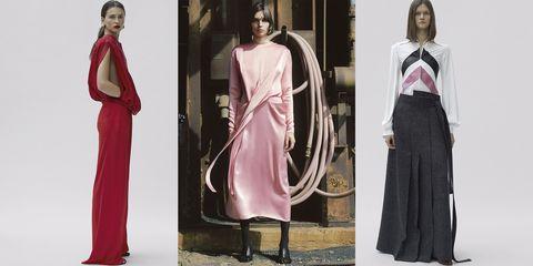 Clothing, Fashion model, Fashion, Dress, Pink, Outerwear, Formal wear, Fashion design, Pattern, Haute couture,