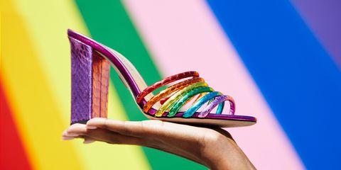 Footwear, Green, Sandal, High heels, Leg, Shoe, Flip-flops,