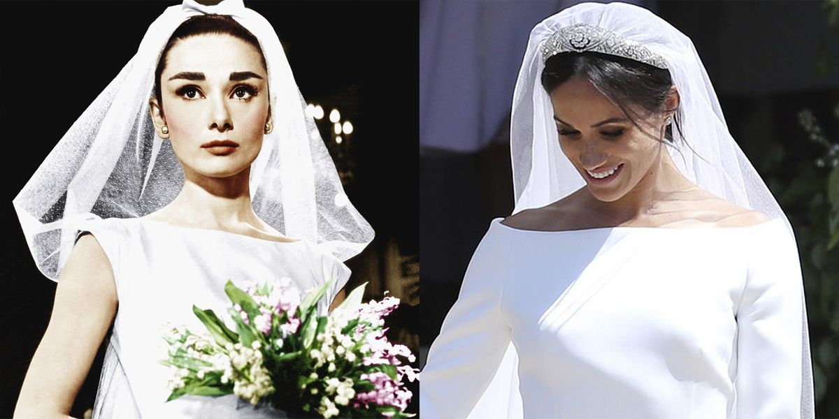 Meghan Markle\'s Royal Wedding Dress Paid Tribute to Audrey Hepburn\'s ...
