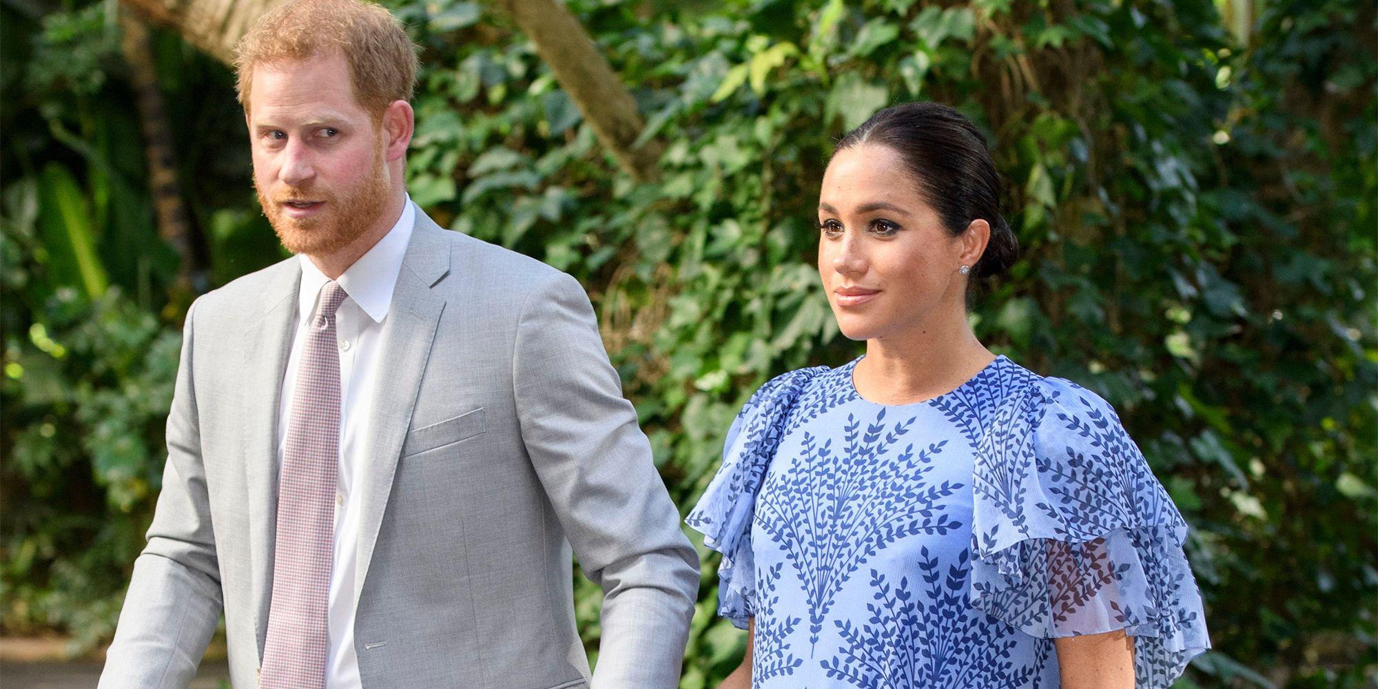 9a87a0059f Meghan Markle Wears Custom Carolina Herrera to Meet the King of Morocco with  Prince Harry