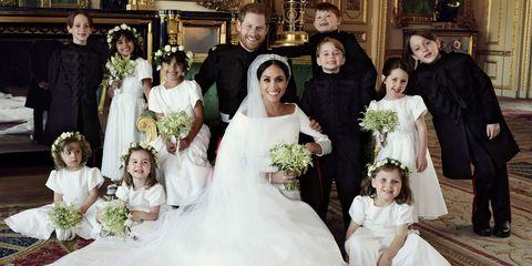 Bride, Wedding dress, Gown, Bridal clothing, Photograph, Dress, Ceremony, Child, Wedding, Event,