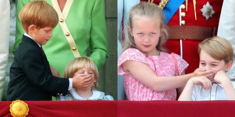 Prince Harry Shushed His Cousin at Trooping the Colour Almost 30 Years Ago