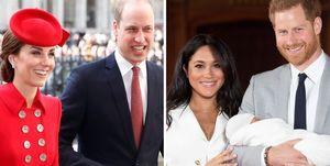 ウィリアム王子&キャサリン妃、ヘンリー王子&メーガン妃