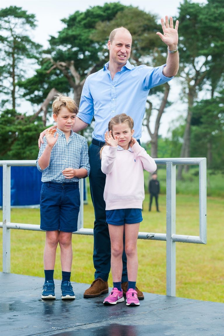 Prince George and Princess Charlotte Join Prince William for a Casual Father's Day Outing