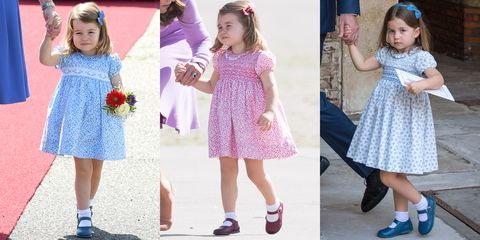 why princess charlotte always wears dresses never pants