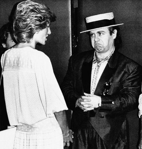 Princess Diana and Elton John