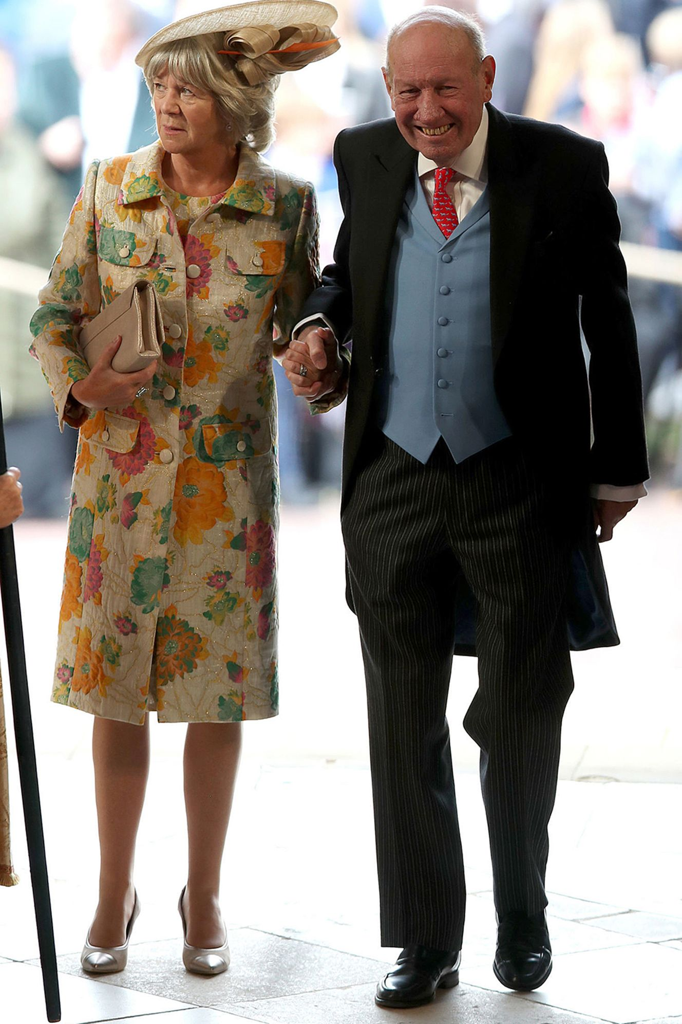 The groom's parents, Nicola and George Brooksbank.