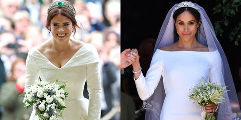 Princess Eugenie Wedding.Princess Eugenie S Royal Wedding Dress Compared To Meghan Markle S