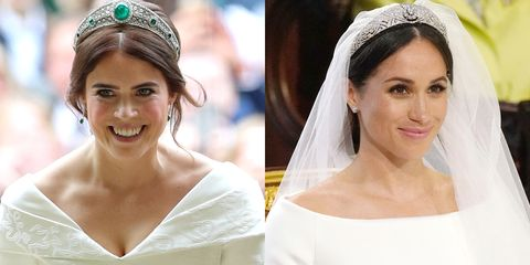 Princess Eugenie S Royal Wedding Hair Compared To Meghan Markle S