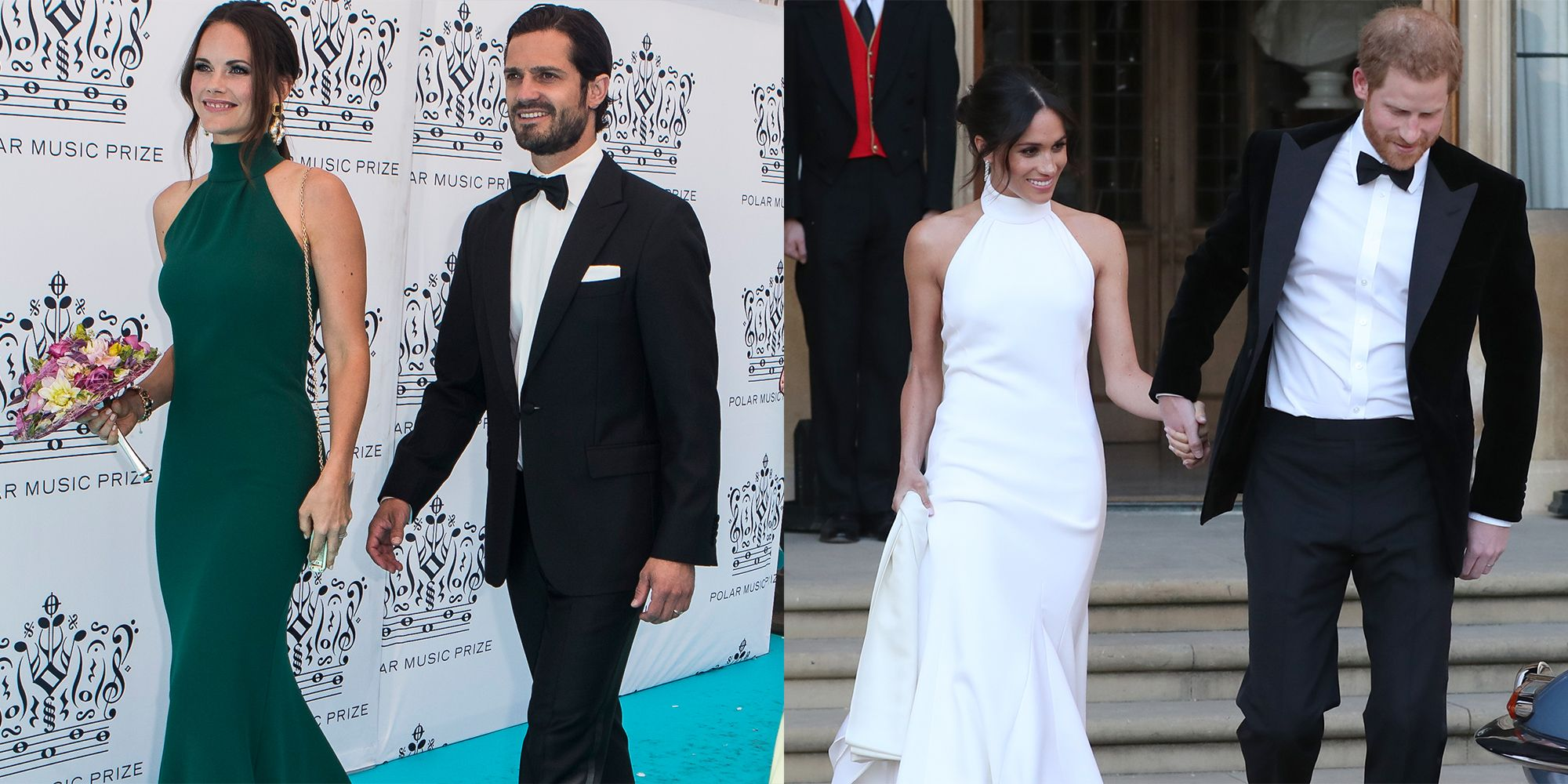 Princess Sofia of Sweden in Halter Dress Similar to Meghan Markle