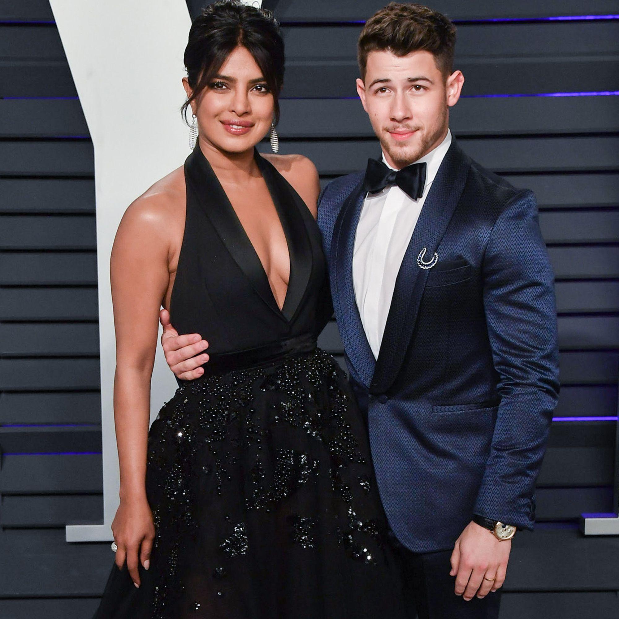 Priyanka Chopra And Nick Jonas Attend The Oscars Party