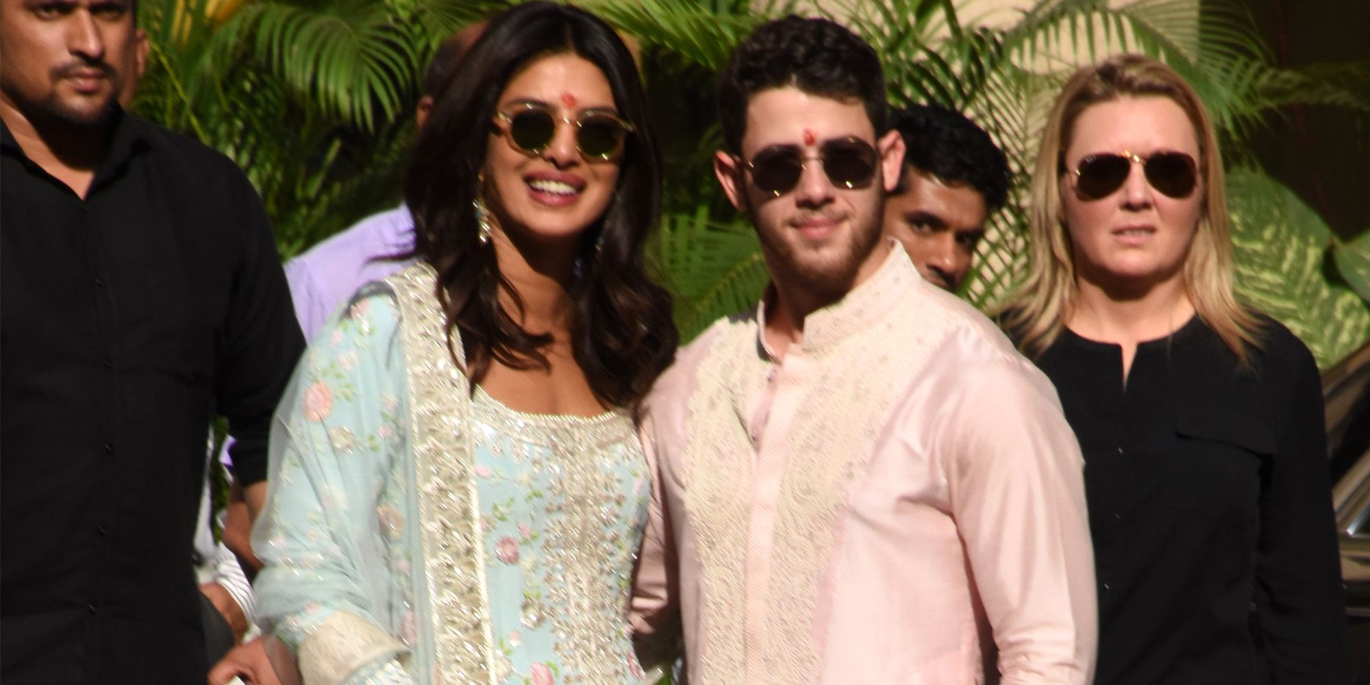 EXCLUSIVE: Priyanka Chopra and Nick Jonas seen ahead of their wedding