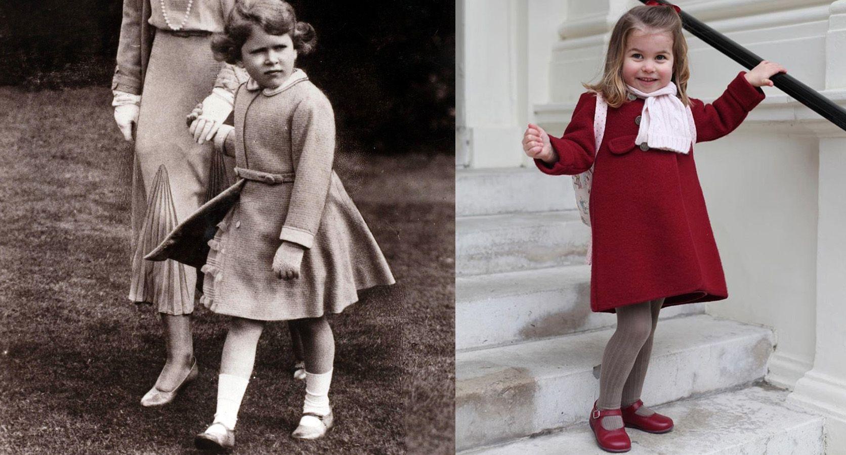 Princess Charlotte Looks Like The Queen In School Photo And Elizabeth Ii Look Alike