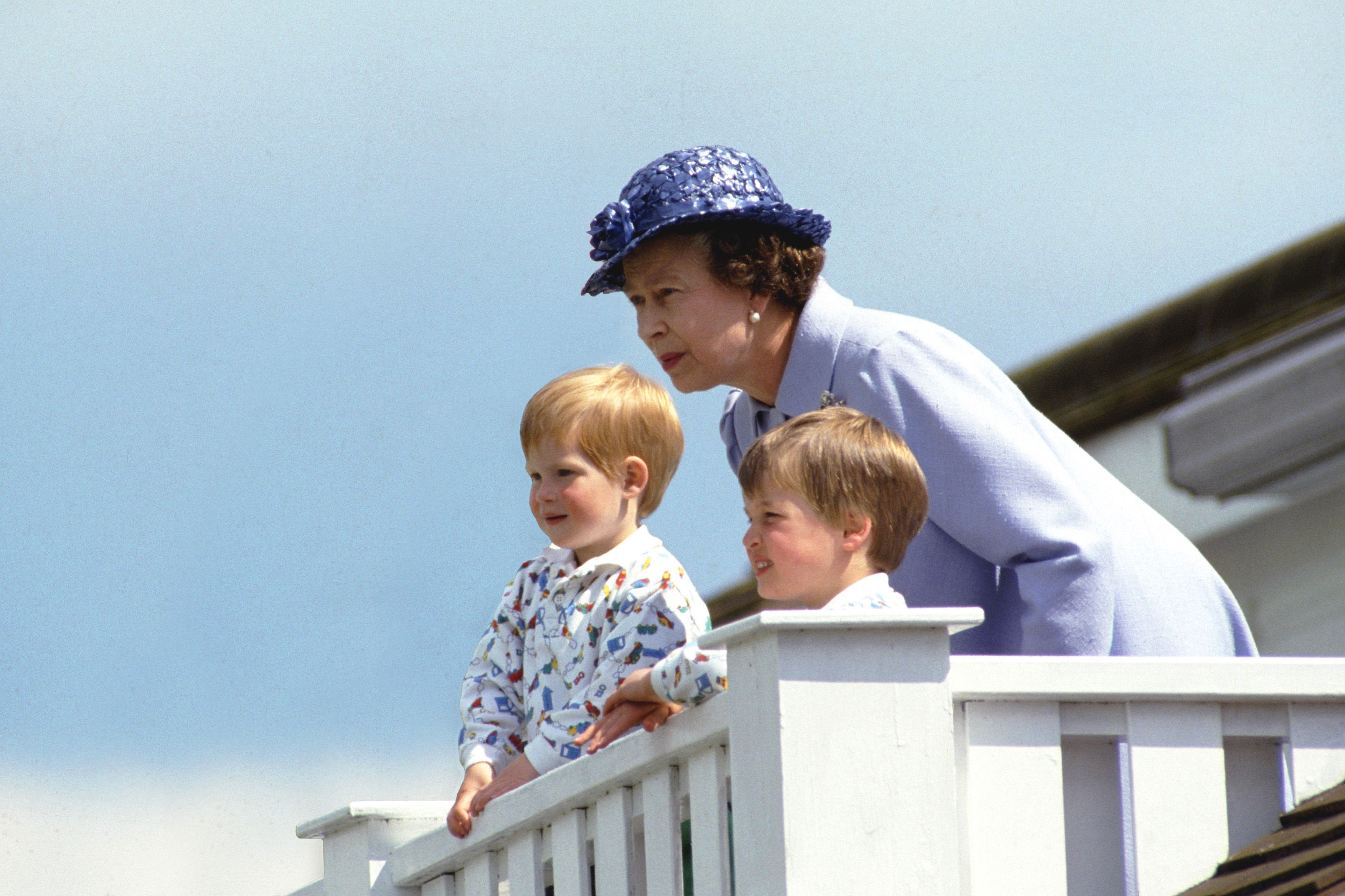 Queen Harry And William
