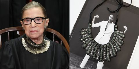 87dfa7060 Banana Republic Reissues Ruth Bader Ginsburg's Dissent Collar to Benefit  the ACLU