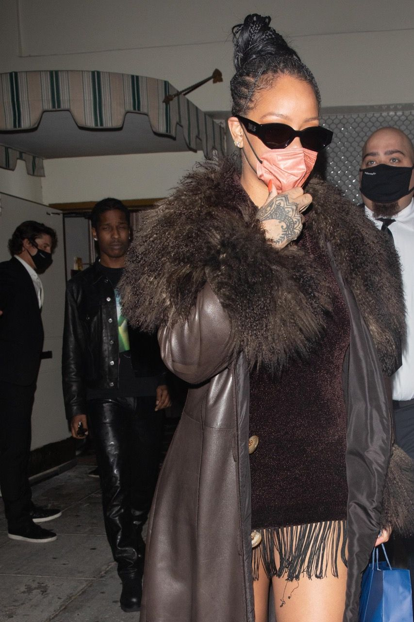 Rihanna Does Date Night in Fendi with A$AP Rocky