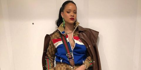 61d89345b411 Rihanna Wears an Epic Head-to-Toe Gucci Look on Instagram