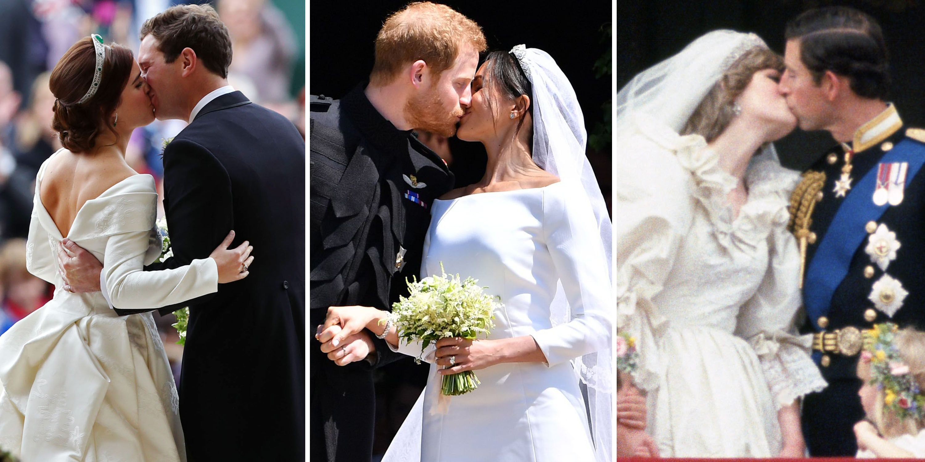 A Look Back at Royal Wedding Kisses Through The Years