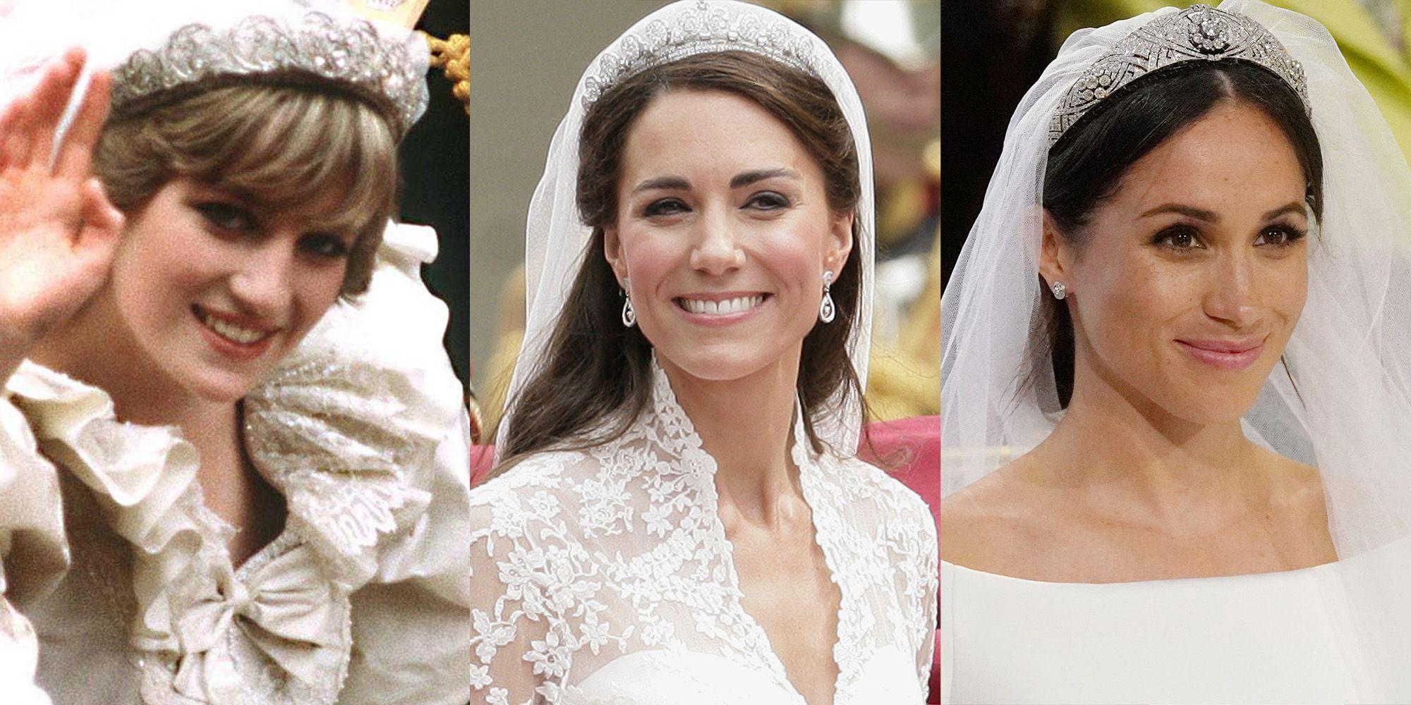 Meghan Markle Kate Middleton Princess Diana Royal Wedding Comparison