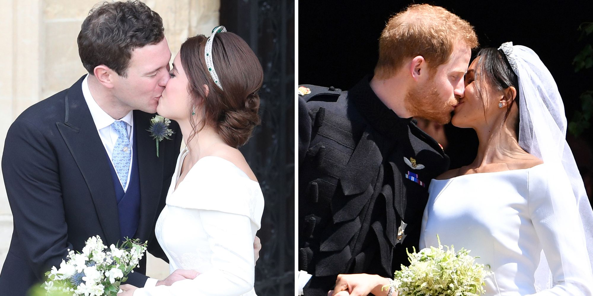 Royal Wedding Kiss.Princess Eugenie Jack Brooksbank S First Kiss Compared To