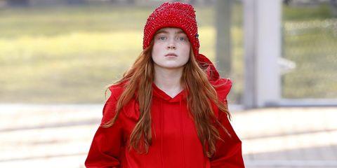 5ed1ccaf384 Stranger Things Sadie Sink Walks Runway At Paris Fashion Week
