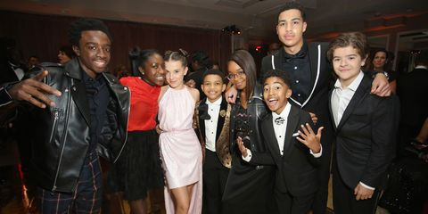 stranger things black ish and this is us kids party together sag
