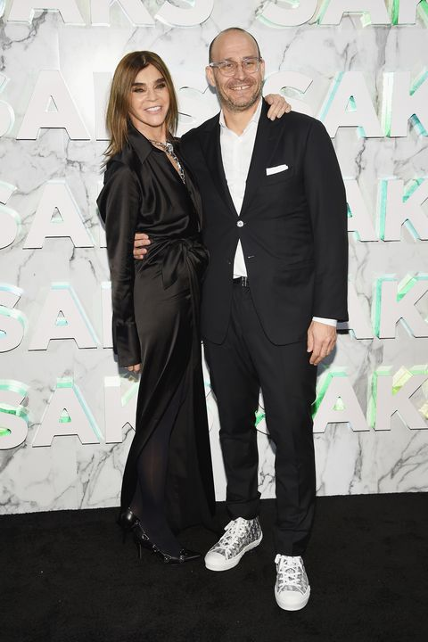 Carine Roitfeld and Saks Fifth Avenue President Marc Metrick