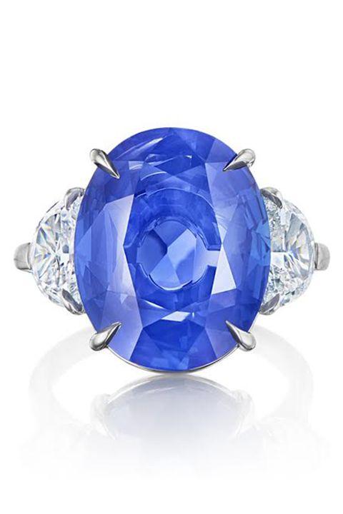 Cobalt blue, Blue, Sapphire, Ring, Gemstone, Fashion accessory, Engagement ring, Jewellery, Diamond, Crystal,