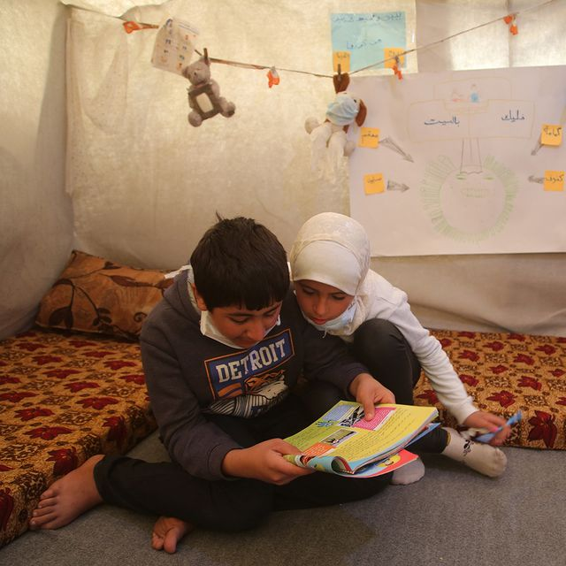 salam, 10, and rami, 13 are siblings from easter ghouta in syria they fled to idlib in north west syria when shelling hit their community in april 2018 the children and their mother have been reading a lot about the coronavirus and say the camp is not equipped to deal with an outbreak