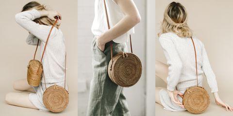 Shoulder, Bag, Fashion, Joint, Fashion accessory, Neck, Fur, Outerwear, Room, Beige,
